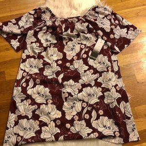 Kensie Floral Off the Shoulder Dress